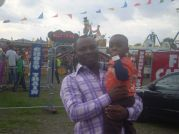 Mr Nwanegbo & Son At Fun Park