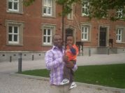 Mr Nwanegbo & Son Outside Apartments