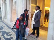 Mrs Tombia and son's shopping