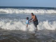 George Nonde And Daughter In The Sea