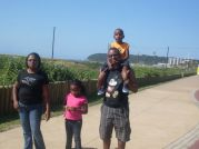 Nonde Family On Beach Walk