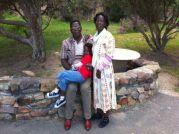 Banda Family In Garden
